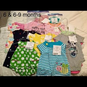6 & 6-9 Month Girls Lot carters